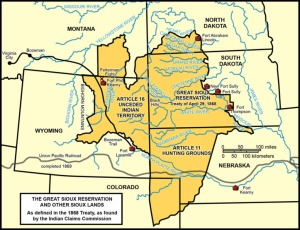 1868 Fort Laramie Treaty Territory (Courtesy The Red Nation) via Indian Country Today Media Network. http://indiancountrytodaymedianetwork.com/